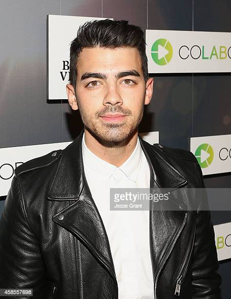 Singer Joe Jonas attends the Colaboratorcom Launch at Milk Studios on November 6 2014 in Hollywood California