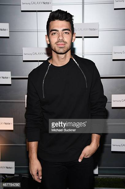 Singer Joe Jonas attends The Note Pad Powered by the Samsung Galaxy Note 4 on October 23 2014 in Los Angeles California