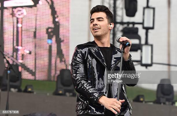 Singer Joe Jonas of DNCE performs during 1027 KIIS FM's Wango Tango 2016 at StubHub Center on May 14 2016 in Carson California