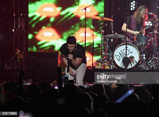 Singer Joe Jonas of DNCE performs during opening night of the Selena Gomez 'Revival World Tour' at the Mandalay Bay Events Center on May 06 2016 in...