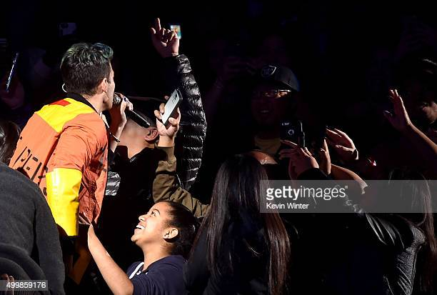 Singer Joe Jonas of DNCE performs onstage during WiLD 949's FM's Jingle Ball 2015 presented by Capital One at ORACLE Arena on December 3 2015 in...