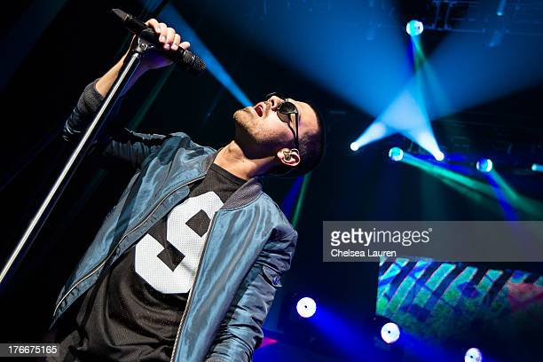 Singer Joe Jonas of The Jonas Brothers performs at Gibson Amphitheatre on August 16 2013 in Universal City California