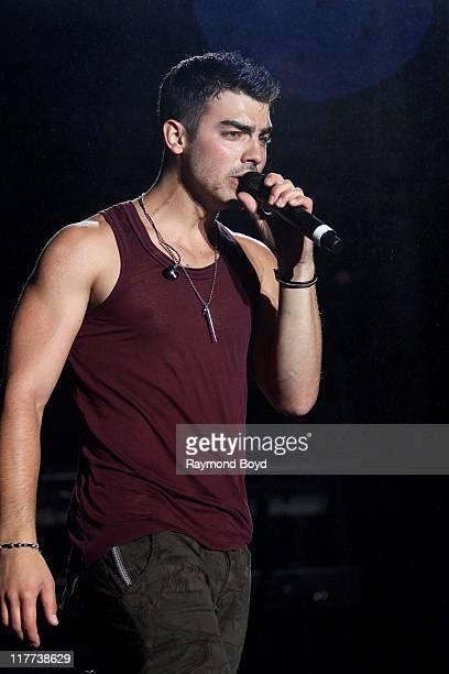 Singer Joe Jonas performs during the B96 Pepsi Summerbash at Toyota Park in Bridgeview Illinois on June 11 2011