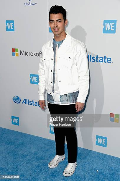 Singer Joe Jonas walks the WE Carpet at WE Day California 2016 at The Forum on April 7 2016 in Inglewood California