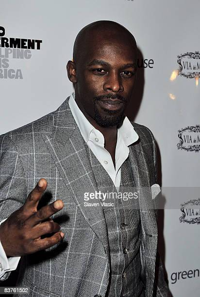 B singer Joe Lewis Thomas attends the Diamonds Give 2008 event to benefit the Community and Individual Development Association in Johannesburg South...