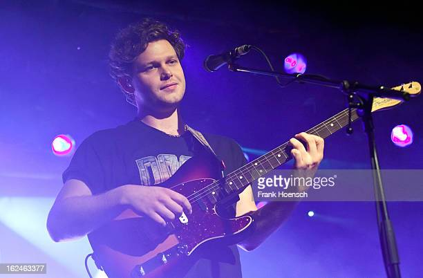 Singer Joe Newman of AltJ performs live during a concert at the Astra on February 23 2013 in Berlin Germany