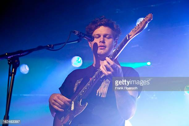 Singer Joe Newman of Alt-J performs live during a concert at the Astra on February 23, 2013 in Berlin, Germany.