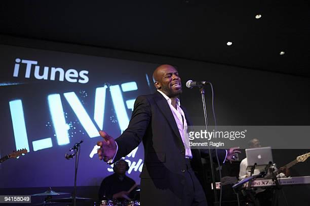 B singer Joe performs at the Apple Store Soho on December 8 2009 in New York City