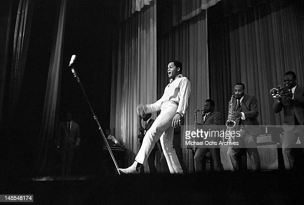 Singer Joe Tex performs live at The Apollo Theatre in Harlem circa 1964 in New York City New York