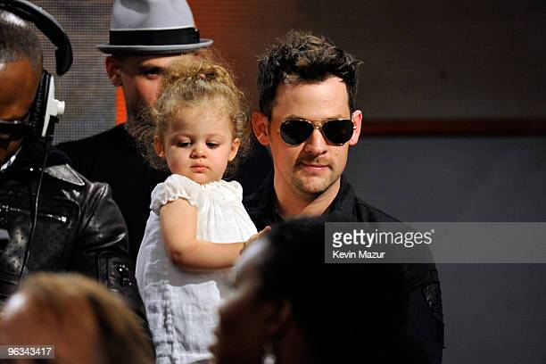 COVERAGE* Singer Joel Madden and daugher Harlow Madden perform at the We Are The World 25 Years for Haiti recording session held at Jim Henson...