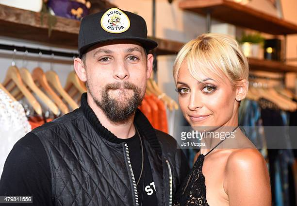 Singer Joel Madden and Nicole Richie attend VH1's Candidly Nicole Season 2 Premiere Event at House of Harlow at The Grove on July 7 2015 in Los...