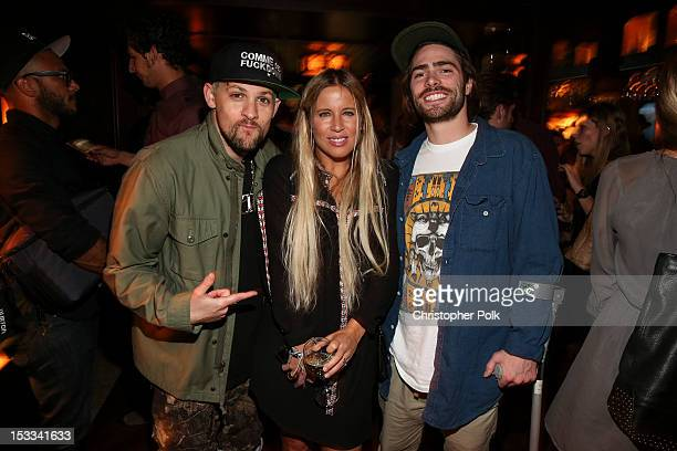 Singer Joel Madden AnneMarie Dacyshyn Pro Snowboarder Danny Davis attend the Burton Snowboards' Private Screening of '13' at The Spare Room on...