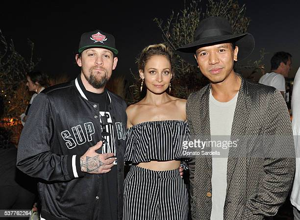Singer Joel Madden, fashion designer Nicole Richie and Co-Founder of Revolve Michael Mente attend House of Harlow 1960 x REVOLVE on June 2, 2016 in...
