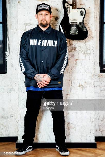 SYDNEY NSW Singer Joel Madden poses during a photo shoot at BMG Australia in Sydney New South Wales