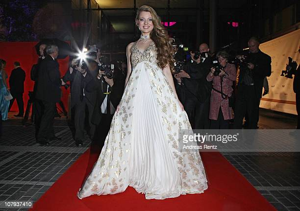 Singer Joelina Drews arrives at the Berlin Press Ball 2011 at the Ullstein hall on January 8, 2011 in Berlin, Germany.