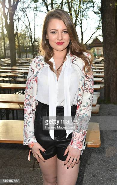 Singer Joelina Drews during the 'EAGLES Fashion Dinner' at Nockherberg on April 6 2016 in Munich Germany