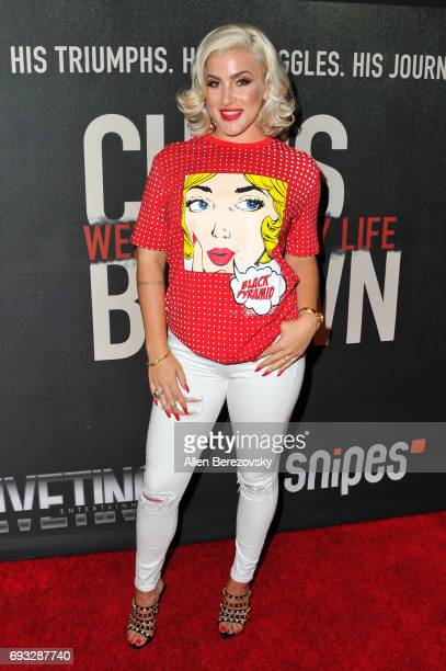 Singer Joelle James attends the premiere of Fathom Events' 'Chris Brown Welcome To My Life' at Regal LA Live Stadium 14 on June 6 2017 in Los Angeles...