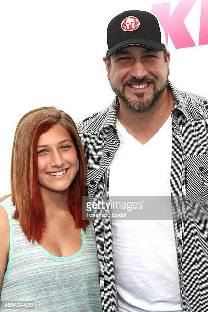 Singer Joey Fatone and Briahna Joely Fatone attend the 1027 KIIS FM's 2014 Wango Tango held at the StubHub Center on May 10 2014 in Los Angeles...