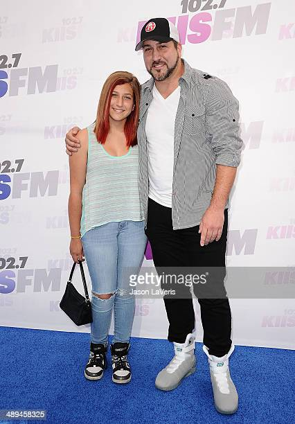 Singer Joey Fatone and daughter Briahna Joely Fatone attend 1027 KIIS FM's 2014 Wango Tango at StubHub Center on May 10 2014 in Los Angeles California