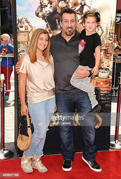 Singer Joey Fatone and daughters Briahna Joely Fatone and Kloey Alexandra Fatone attend the premiere of The Boxtrolls at Universal CityWalk on...