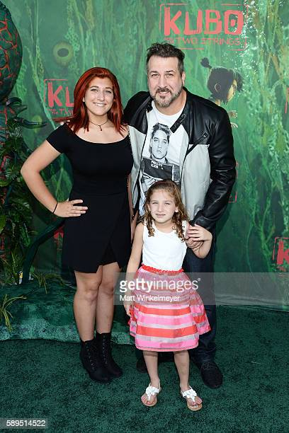 Singer Joey Fatone and daughters Briahna Joely Fatone and Kloey Alexandra Fatone attend the premiere of Focus Features' 'Kubo and the Two Strings' at...