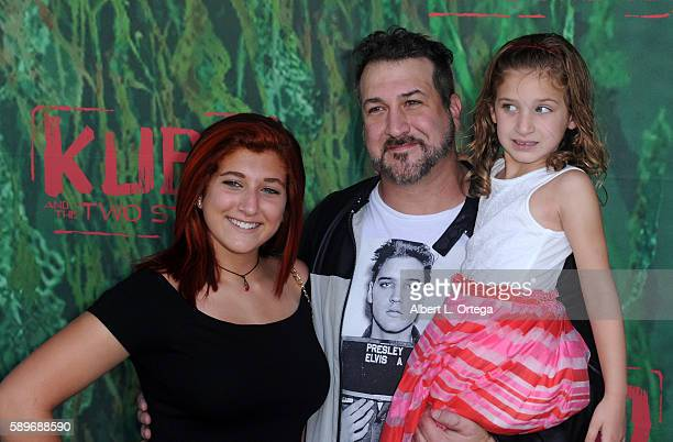 Singer Joey Fatone and daughters Briahna Joely Fatone and Kloey Alexandra Fatone arrive for the Premiere Of Focus Features' Kubo And The Two Strings...