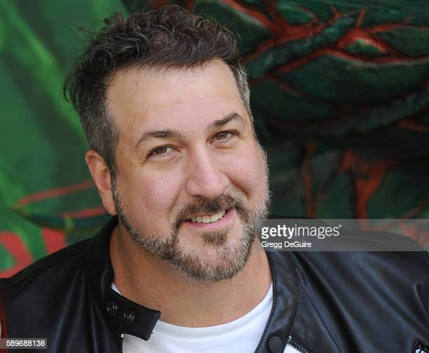 Singer Joey Fatone arrives at the premiere of Focus Features' Kubo And The Two Strings at AMC Universal City Walk on August 14 2016 in Universal City...