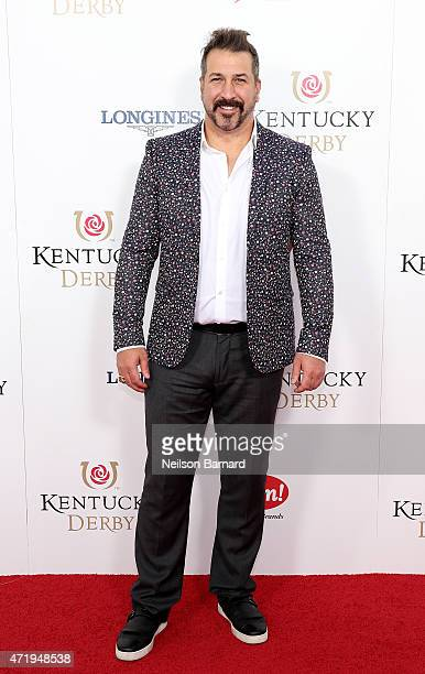 Singer Joey Fatone attends the 141st Kentucky Derby at Churchill Downs on May 2 2015 in Louisville Kentucky