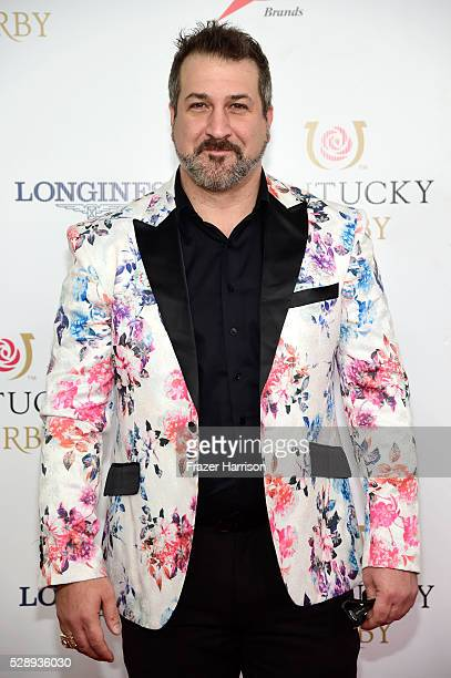 Singer Joey Fatone attends the 142nd Kentucky Derby at Churchill Downs on May 07 2016 in Louisville Kentucky