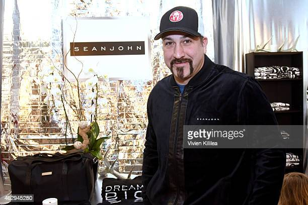 Singer Joey Fatone attends the GRAMMY gift lounge during The 57th Annual GRAMMY Awards at the Staples Center on February 7 2015 in Los Angeles...