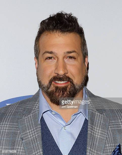 Singer Joey Fatone attends the My Big Fat Greek Wedding 2 New York premiere at AMC Loews Lincoln Square 13 theater on March 15 2016 in New York City