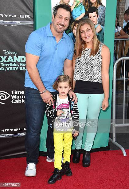 Singer Joey Fatone Briahna Joely Fatone and Kloey Alexandra Fatone arrives at the Alexander And The Terrible Horrible No Good Very Bad Day Los...