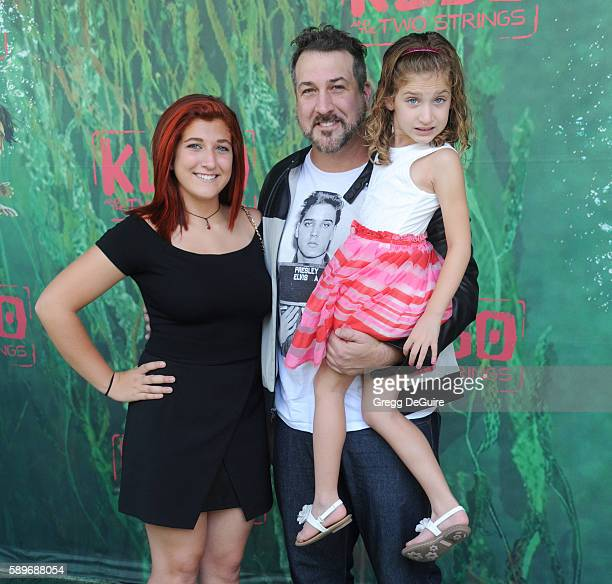 Singer Joey Fatone daughters Briahna Joely Fatone and Kloey Alexandra Fatone arrive at the premiere of Focus Features' Kubo And The Two Strings at...