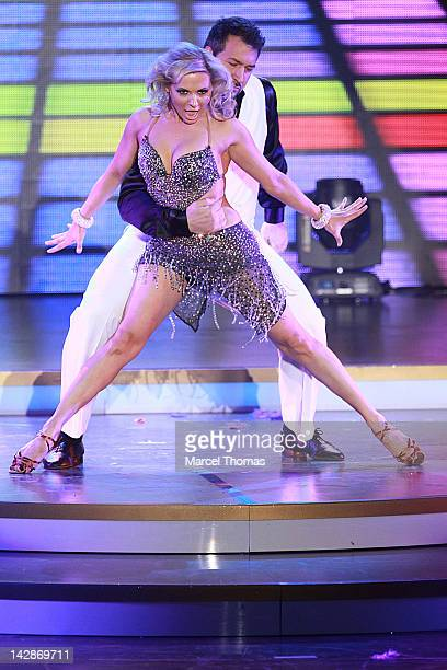 """Singer Joey Fatone performs on stage in """"Dancing With The Stars: Live In Las Vegas"""" at The Tropicana on April 13, 2012 in Las Vegas, Nevada."""