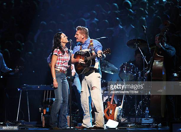 Singer Joey Martin Feek and Rory Lee Feek of Joey and Lory perform on stage during the 2009 CMT Music Awards at the Sommet Center on June 16, 2009 in...