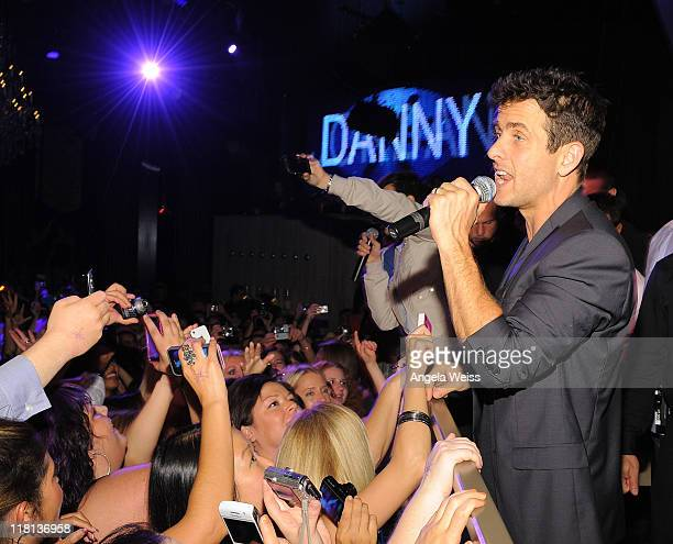 Singer Joey McIntyre of New Kids on the Block performs at the New Kids on the Block official after party at Chateau Nightclub Gardens at Paris Las...