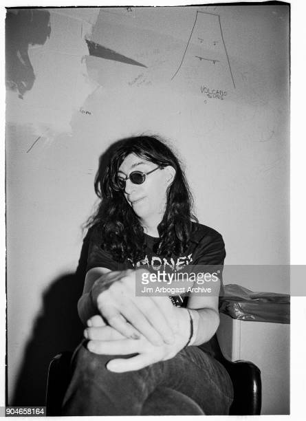 Singer Joey Ramone a Godfather of punk rock of The Ramones poses for a portrait backstage at the Masquerade club June 11 1991 in Atlanta Georgia