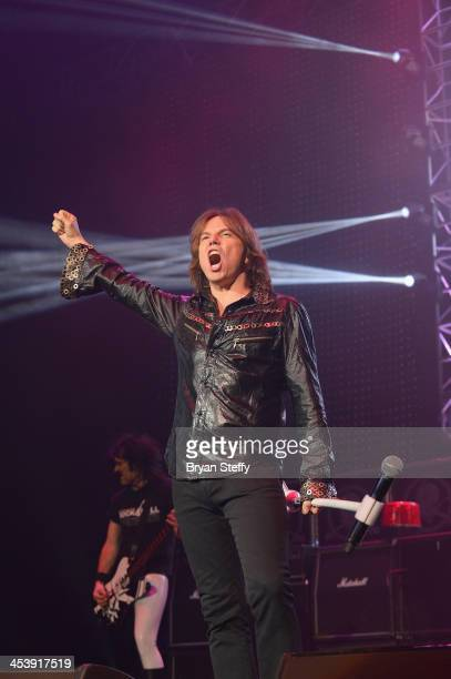 Singer Joey Tempest of Europe performs at The Fundraiser to benefit Brennan Rock Roll Academy at the Orleans Arena on December 5 2013 in Las Vegas...
