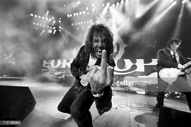 Singer Joey Tempest of Swedish hard rock band Europe live in Sweden May 2010