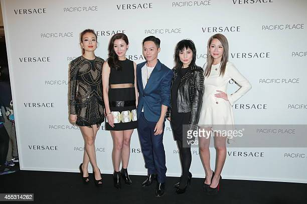 Singer Joey Yung actress Michelle Monique Reis actress Josie Ho and singer Elva Hsiao attend Versace Unique Signature Handbags for Pacific Place...