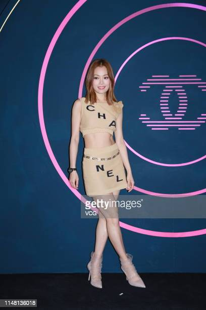 Singer Joey Yung attends Chanel Coco Flash Club opening ceremony on May 9, 2019 in Hong Kong, China.