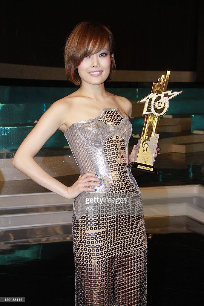Singer Joey Yung attends the 2012 Jade Solid Gold Best Ten Music Awards Presentation at TVB City on January 13, 2013 in Hong Kong, Hong Kong.