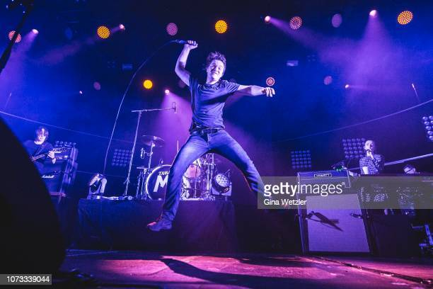 Singer Johannes Madsen of the German band Madsen performs live on stage during a concert at Columbiahalle on December 14 2018 in Berlin Germany