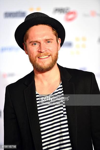 Singer Johannes Oerdig attends the LEA Live Entertainment Award 2016 at Festhalle Frankfurt on April 4 2016 in Frankfurt am Main Germany