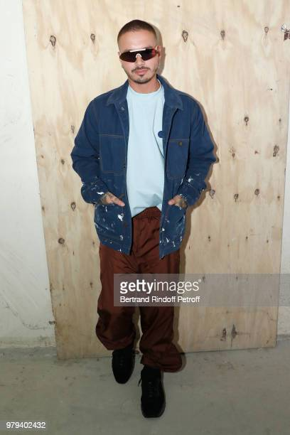 Singer John Balvin attends the Acne Studio Menswear Spring/Summer 2019 show as part of Paris Fashion Week on June 20 2018 in Paris France