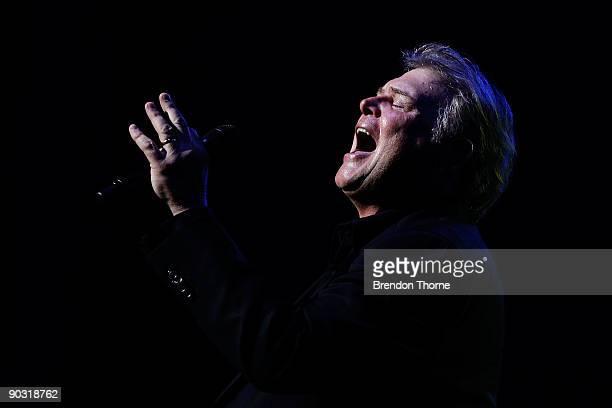 Singer John Farnham performs on stage in the Lyric Theatre on September 3 2009 in Sydney Australia