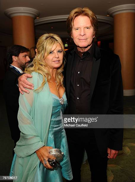 Singer John Fogerty and wife Julie Fogerty attend the Sony/BMG Grammy After Party at the Beverly Hills Hotel on February 10 2008 in Beverly Hills...