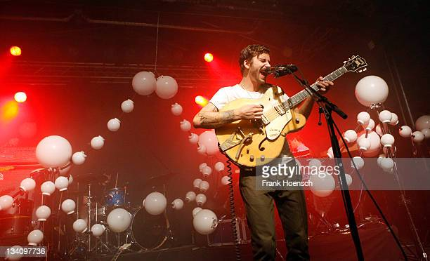 Singer John Gourley of the band Portugal The Man performs live during a concert at the Postbahnhof on November 25 2011 in Berlin Germany