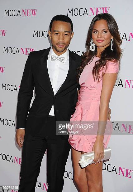 Singer John Legend and model Chrissy Teigen arrive at the MOCA NEW 30th anniversary gala held at MOCA Grand Avenue on November 14 2009 in Los Angeles...