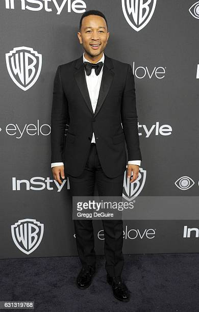 Singer John Legend arrives at the 18th Annual PostGolden Globes Party hosted by Warner Bros Pictures and InStyle at The Beverly Hilton Hotel on...